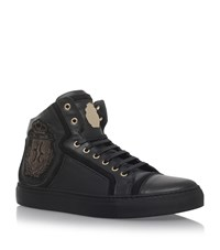 Billionaire Crest High Top Sneakers Male Black