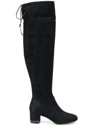 Michael Michael Kors Jamie Boots Leather Polyester Rubber 6.5 Black
