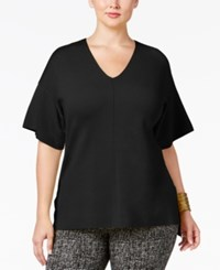 Alfani Plus Size Milano Dolman Sleeve Top Only At Macy's Deep Black