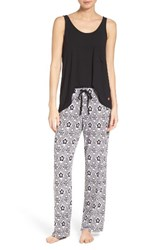 Josie Women's Mesmerized Pajamas White Black