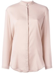 Eleventy Top With Discreet Front Fastening Pink Purple