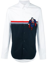 Iceberg Superman Stripes Shirt White