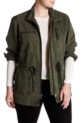 Melrose And Market Utility Jacket Plus Size Green