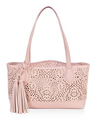 Buco Small Crochet Tote Rose Quartz