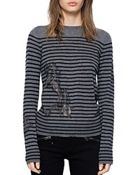 Zadig And Voltaire Miss Ter Cashmere Sweater Gray