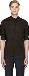 Kris Van Assche Black Gathered Sleeve Shirt