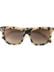 Stella Mccartney Square Frame Sunglasses Nude And Neutrals