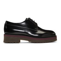 Lanvin Black Leather Derbys