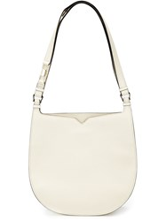 Valextra 'Weekend Hobo' Shoulder Bag White