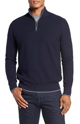 Tailorbyrd Men's Ahem Waffle Knit Quarter Zip Sweater