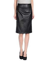Gold Case Knee Length Skirts Black