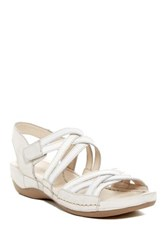 Josef Seibel Nora 05 Leather Slingback Wedge Sandal White