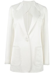 Helmut Lang Patch Pocket Blazer Nude Neutrals
