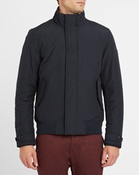 Woolrich Navy Travel Down Lining Waterproof Bomber Jacket Blue