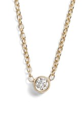 Zoe Chicco Women's Zo Chicco Diamond Bezel Pendant Necklace