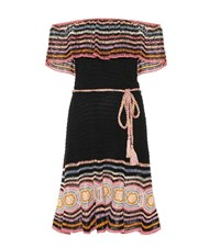 Anna Kosturova Carmen Crochet Dress Multicoloured