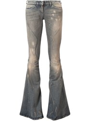 Faith Connexion Distressed Flared Jeans Blue