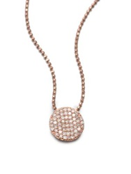 Phillips House 14K Rose Gold And Diamond Mini Infinity Pendant Necklace