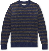 J.Crew Wallace And Barnes Striped Wool Sweater Blue