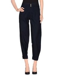 Victoria Beckham Casual Pants Dark Blue