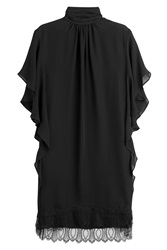 Tamara Mellon Silk Tunic With Lace Black