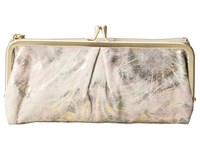 Hobo Vera Metallic Star Burst Clutch Handbags White