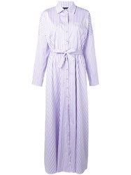 Federica Tosi Striped Shirt Dress White