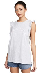 The Upside Frill Muscle Tank Grey Marl
