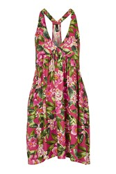 Nobody's Child Hawaii Floral Halter Neck Beach Dress By Multi