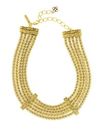 Oscar De La Renta Multi Strand Golden Chain Necklace