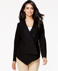 Alfani Draped Wool Wrap Jacket Only At Macy's Deep Black