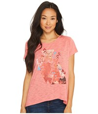 Roper 1136 Poly Rayon Knit Loose Fit Tee Pink Women's T Shirt