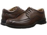 Dockers Trustee Moc Toe Oxford Dark Tan Leather Lace Up Bicycle Toe Shoes Brown