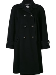 Chanel Vintage Double Breasted Coat Black