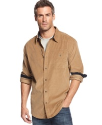 Weatherproof Vintage Long Sleeve Corduroy Shirt Nutmeg