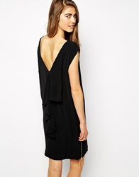 Y.A.S Sleeveless Dress With Ruffle V Back Detail Black