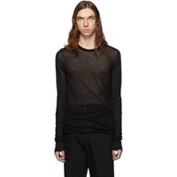 Rick Owens Black Basic Long Sleeve T Shirt