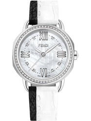 Fendi Selleria Watch With 0.55Ct And 0.6Ct Diamonds White
