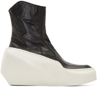 Julius Black And White Sculpted Heel Ankle Boots