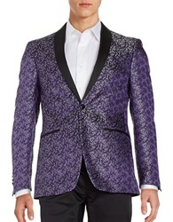 Tallia Orange Floral Dinner Jacket Purple