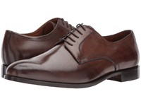 Massimo Matteo 5 Eye Plain Toe Blucher Dark Brown Lace Up Casual Shoes