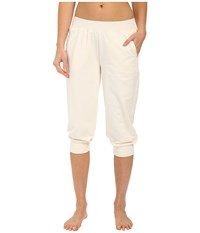 Yummie Tummie Baby French Terry Capris Cream Women's Capri Beige