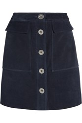 Mih Jeans M.I.H Damas Suede Mini Skirt Midnight Blue
