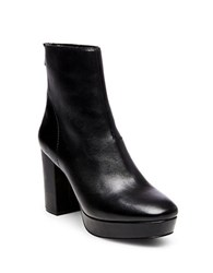 Steve Madden Peace Leather Booties Black