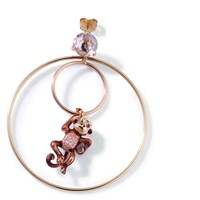 Misis Sterling Silver Rose Plated Cheeky Monkey Earrings Brown
