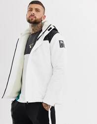 Nicce London Arctic Parka Coat In White With Borg Lining