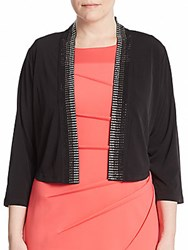 Calvin Klein Plus Size Embellished Three Quarter Sleeve Bolero Black