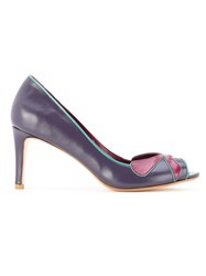 Sarah Chofakian Open Toe Pumps Pink And Purple
