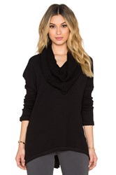 Heather Cowl Neck Sweater Black