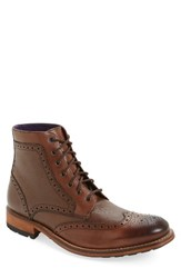Ted Baker Men's London 'Sealls 3' Wingtip Boot Brown Leather